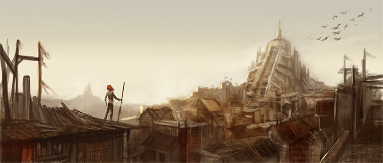skyline ishtar environment concept art