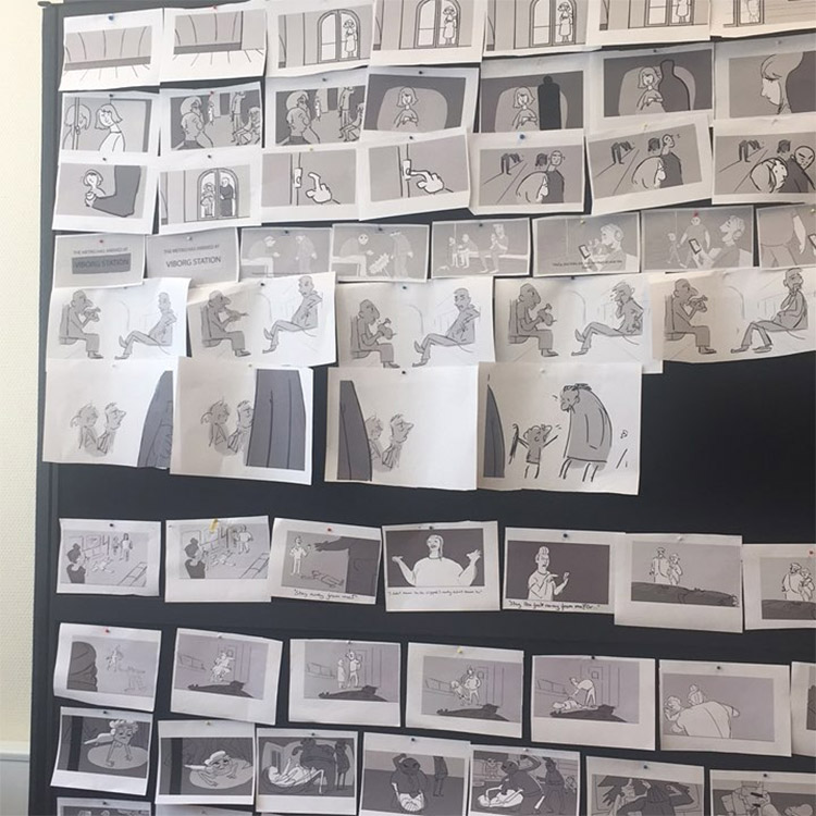 storyboard pitch arrangement