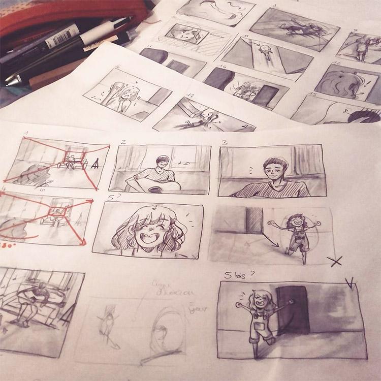 storyboarding sketch examples