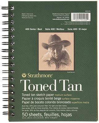 strathmore toned sketchbook