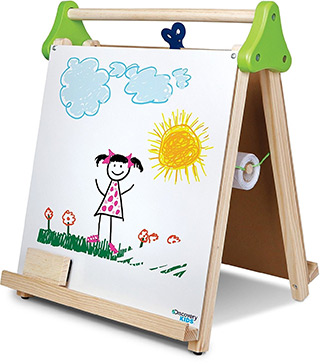 kids tabletop easel