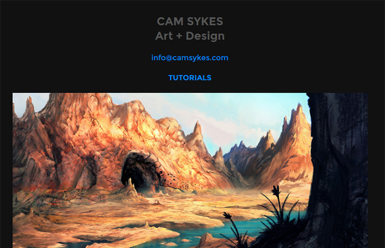 cam sykes website