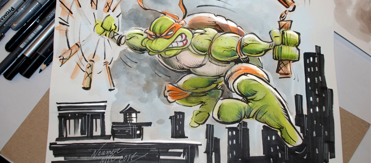 teenage mutant ninja turtle sketch