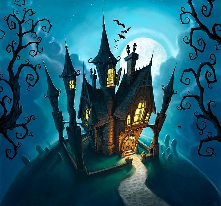 tomek mansion board game cover art