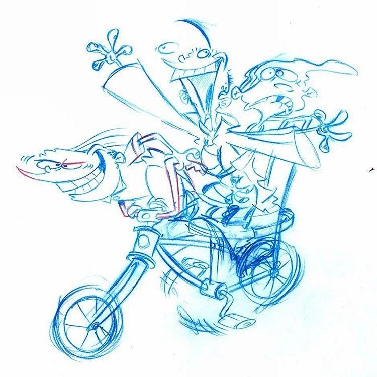 pencil sketch eene artwork cartoon network