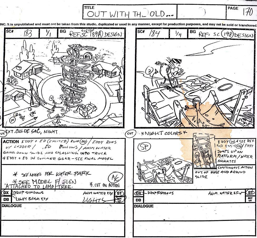 old EEnE storyboard drawing