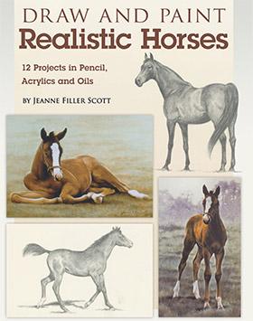 draw paint realistic horses
