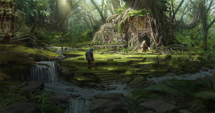 uncharted jungle environment concept art