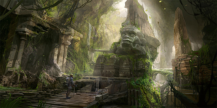 lost ancient civilization environment art