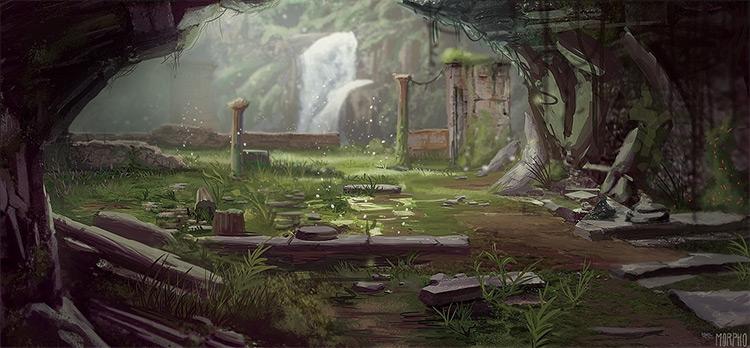 classic ruins environment art inspiration