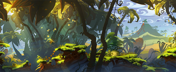 primordial jungle environment art lighting