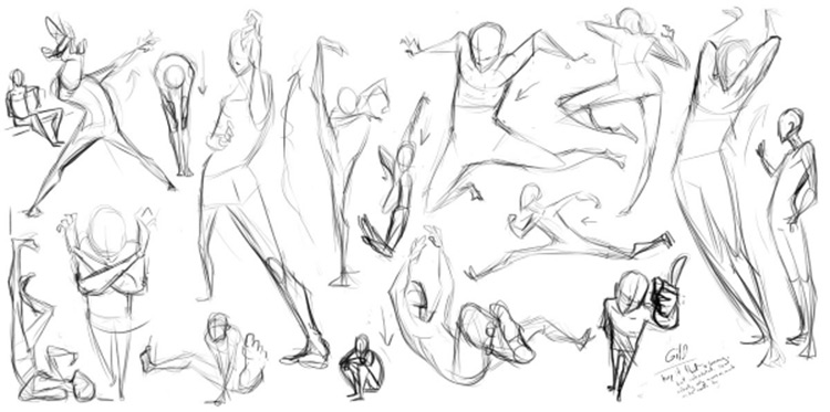 gesture drawing sketches example