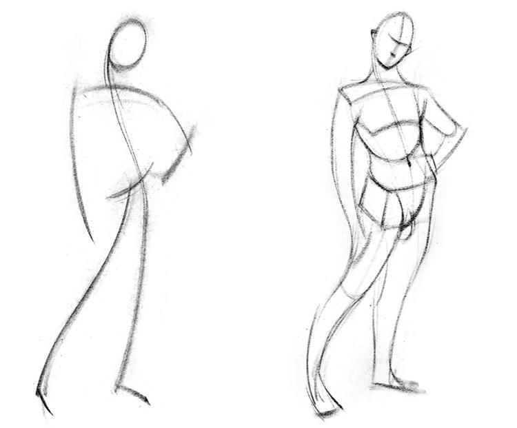 proko gesture concept art sketches