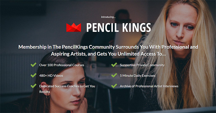 pencilkings signup page