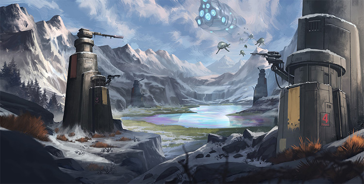 environment art skissus painting