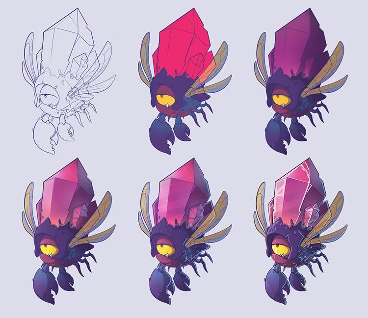 stone crab creature concept art