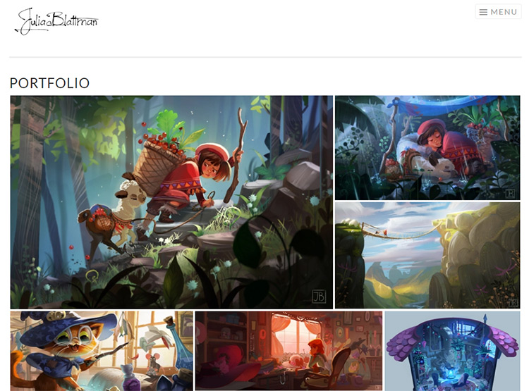 Tips for a kickass concept art portfolio website for Website that allows you to design a room