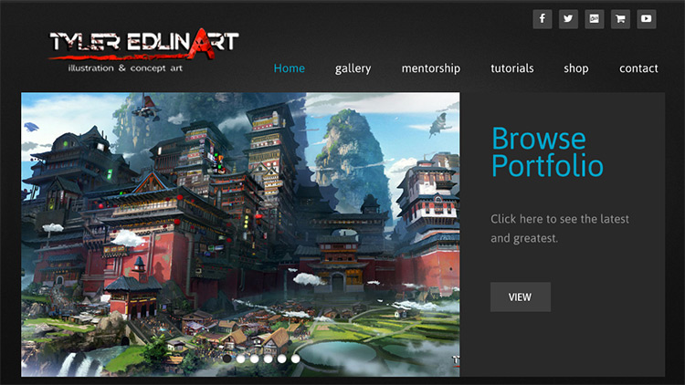 Tips for a kickass concept art portfolio website for Best art websites for artists