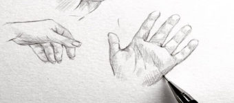 sketches hands drawing
