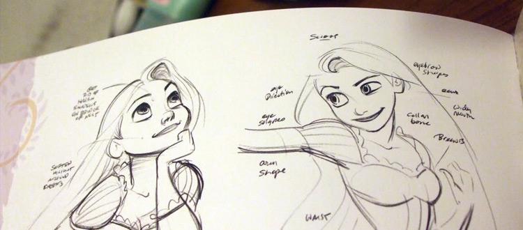 Tangled Rapunzel artbook