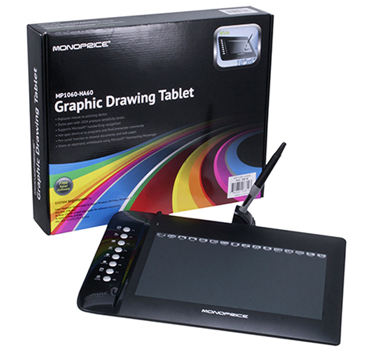 "Review: Monoprice MP1060-HA60 10""x6.25"" Drawing Tablet"