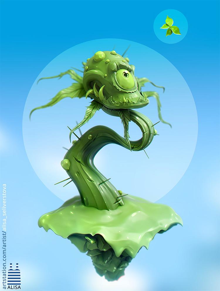 carnivorous plant concept art