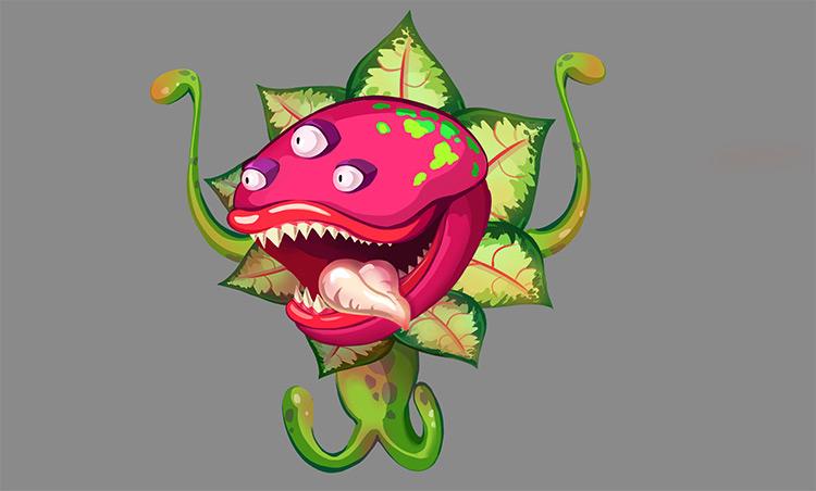 carnivorous plant creature art