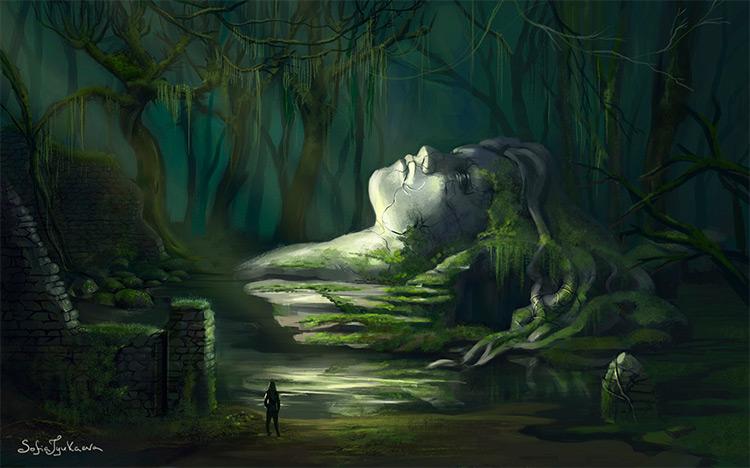 swamps heart environment art