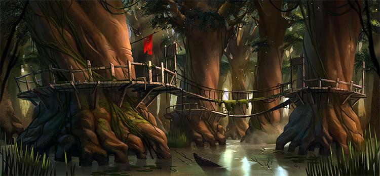 swamp village concept art