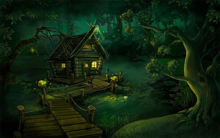 swamp environment concept art