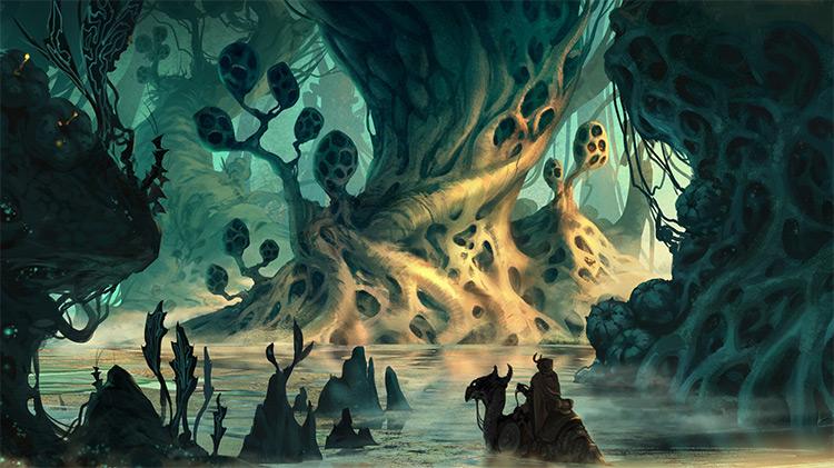 creepy environment swamp