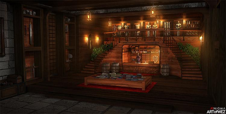 concept art potion shop
