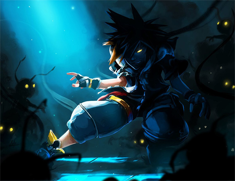 sora kingdom hearts fanart by kala