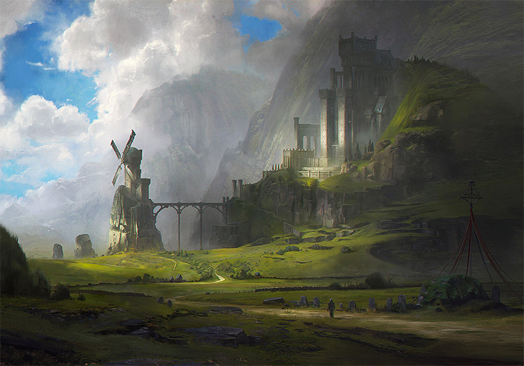 ventus castle landscape
