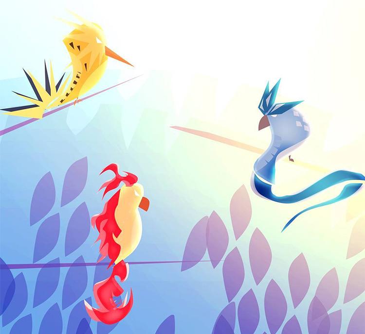legendary birds moltres zaptos articuno