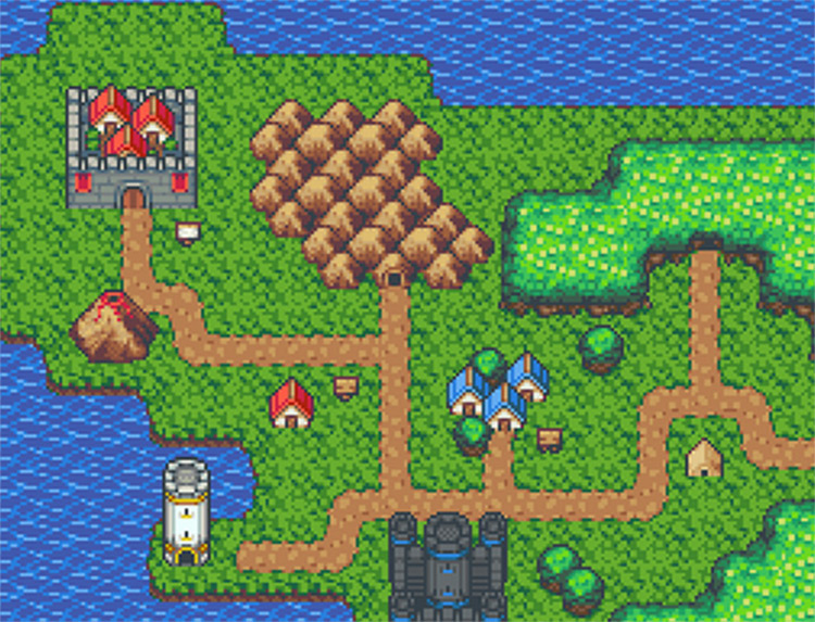 overworld pixel art by Jason Perry