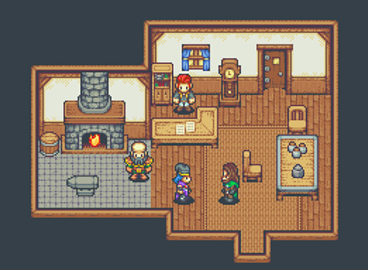 interior room pixel art by Jason Perry