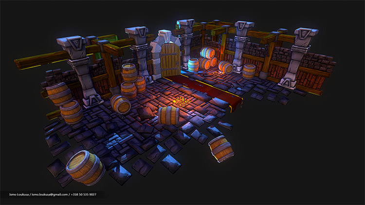 digital 3d dungeon art