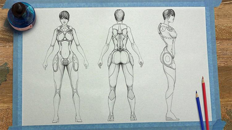 model sheets sketchbook pro