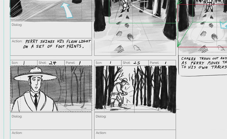 storyboarding preview screen