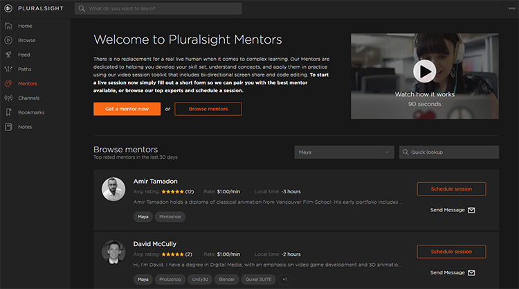 pluralsight mentorship