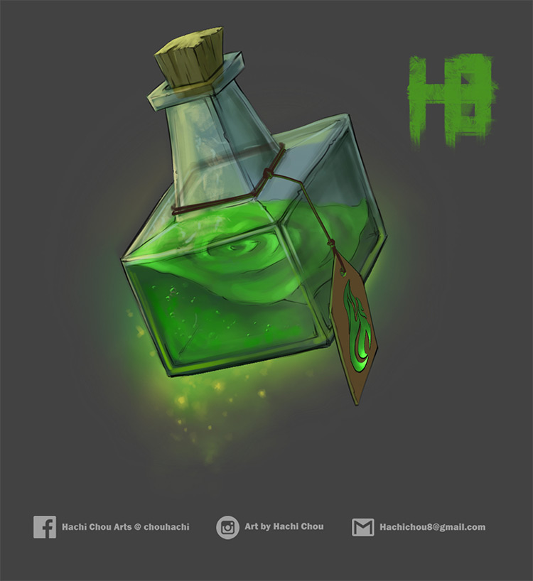 green wildfire potion