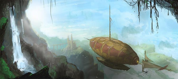 creative airship concept