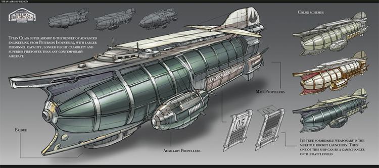 titan airship concept art