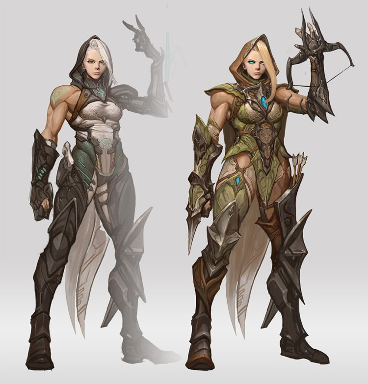 elf assassin character