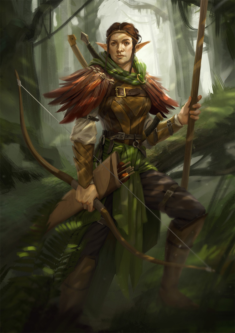 forest elf lady character