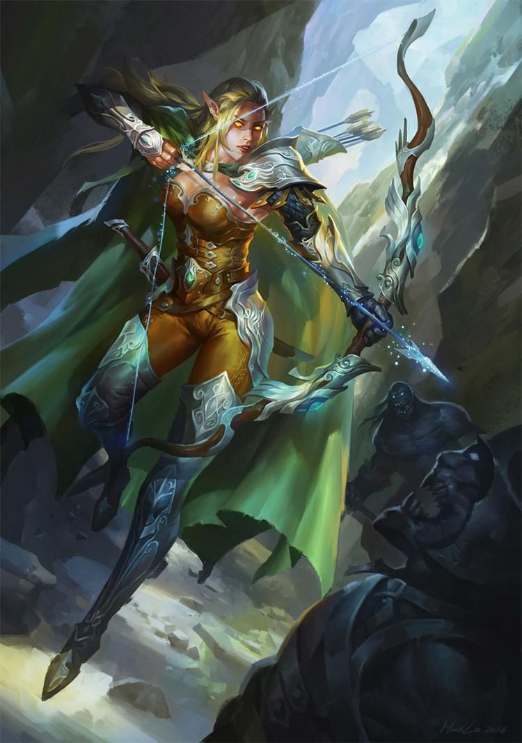 elf archer ranger character