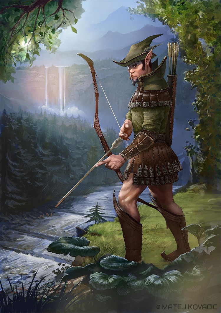elf forest deer hunter