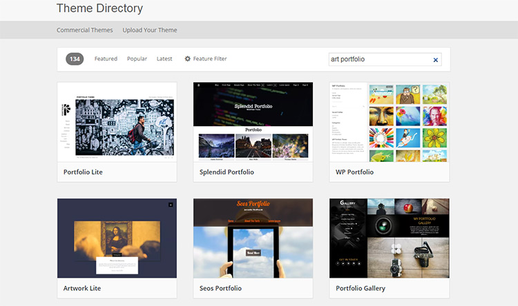 free art portfolio wp themes