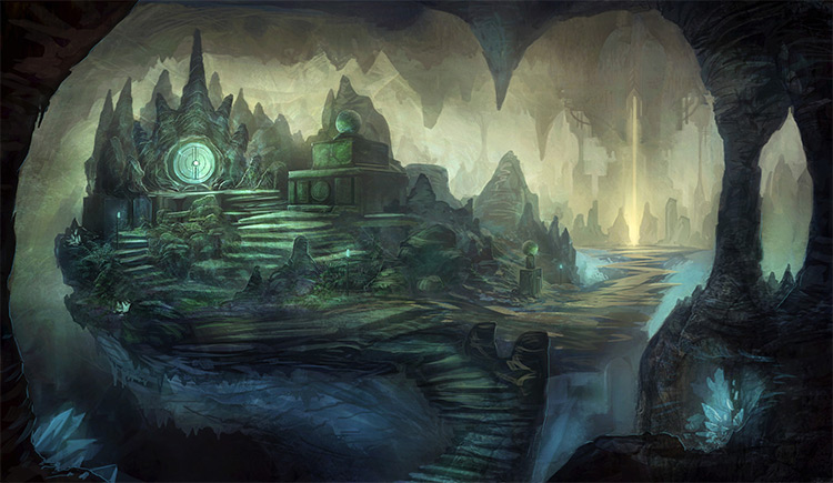 crystal cave environment